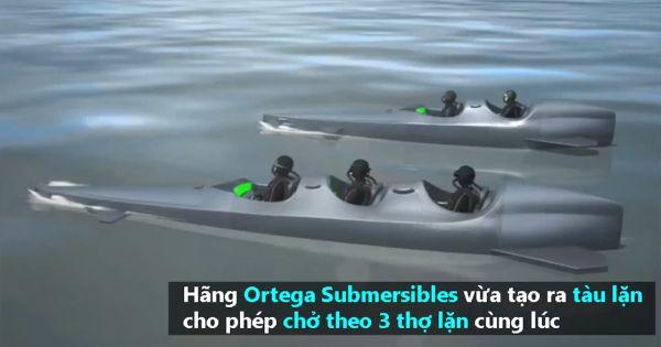 Tàu lặn cá nhân giúp thợ lặn phá vỡ giới hạn thông thường