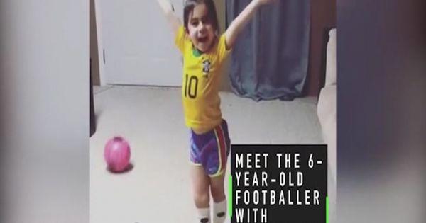 Cô bé 6 tuổi có kỹ thuật chơi bóng tuyệt vời