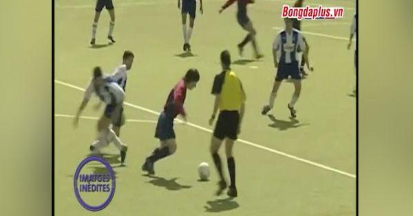 Video chưa từng được công bố khi Messi thi đấu cho U16 Barca