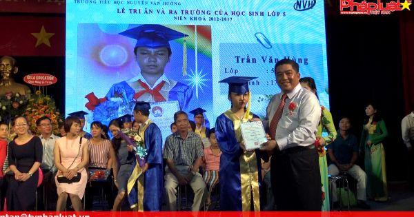 Trường tiểu học Nguyễn Văn Hưởng: Học sinh lớp 5 tri ân cha mẹ, thầy cô