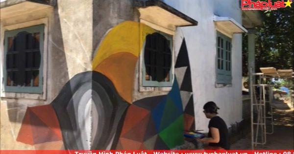Quảng Ngãi: Xây dựng làng bích họa độc đáo ở Đảo Bé