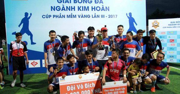 CLB Đức Thắng GPRS giành ngôi vương tại giải bóng đá Ngành Kim hoàn 2017