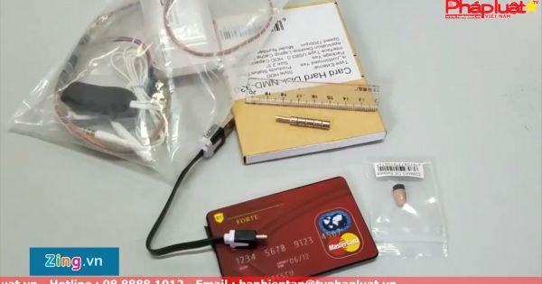 Thí sinh thi THPT quốc gia dùng thiết bị công nghệ cao để gian lận