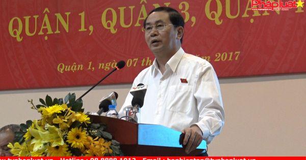 Chủ tịch nước giải đáp thắc mắc của cử tri về những vấn đề nóng của xã hội