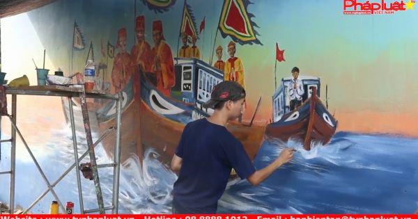 Cuốn hút làng bích họa ở xã đảo Quảng Nam