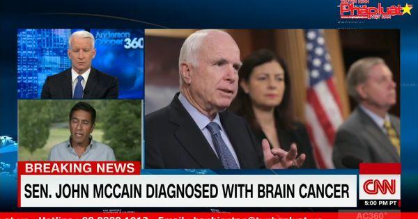Thượng nghị sĩ John McCain được chẩn đoán bị khối u não