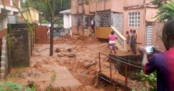 Lũ lụt ở Sierra Leone, hàng trăm người chết