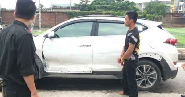 """Quảng Ninh: Truy đuổi lái xe """"điên"""" lao vào thẳng vào CSGT"""