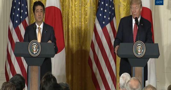 Thủ tướng Nhật Bản Abe nhất trí với Tổng Thống Trump tăng áp lực lên Triều Tiên