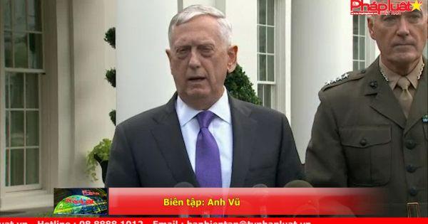 Bộ trưởng Jim Mattis: Đe dọa của Triều Tiên sẽ đưa đến phản ứng quân sự lớn