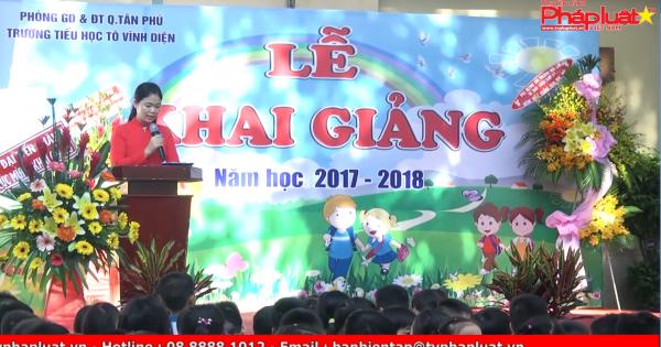 Trường tiểu học Tô Vĩnh Diện hân hoan chào đón năm học mới