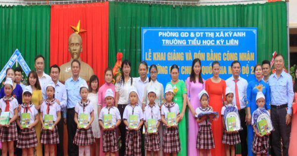 Formosa Hà Tĩnh đồng hành, góp sức đến trường cho học sinh thị xã Kỳ Anh