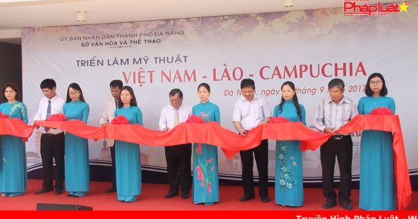 55 tác phẩm tham dự triển lãm Mỹ thuật Việt Nam, Lào, Campuchia