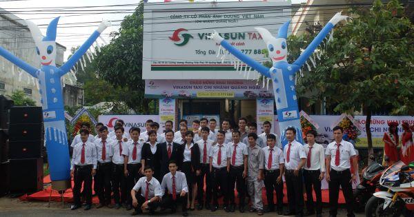 Khai trương 2 chi nhánh taxi Vinasun tại Quảng Ngãi và Thừa Thiên Huế