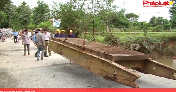 Quảng Ngãi: khắc phục cầu cho ô tô lưu thông qua quốc lộ 24B