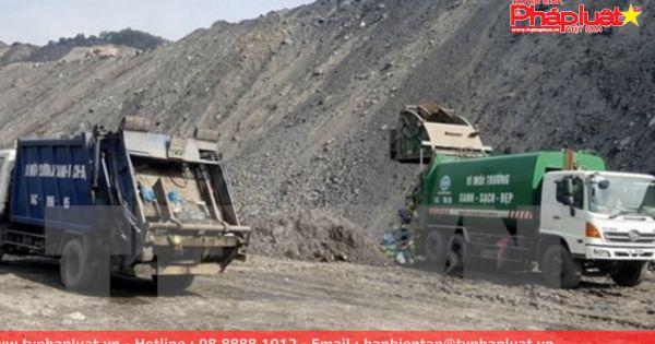 Chôn lấp trái phép hàng trăm tấn rác thải tại khai trường khai thác than