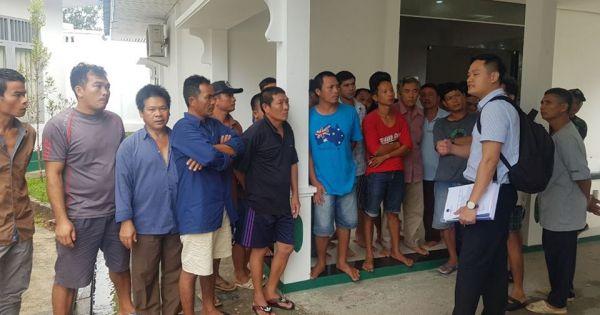 ĐSQ Việt Nam tại Indonesia làm việc với tòa án Ranai, ngư dân Việt trước phiên tòa 16/11