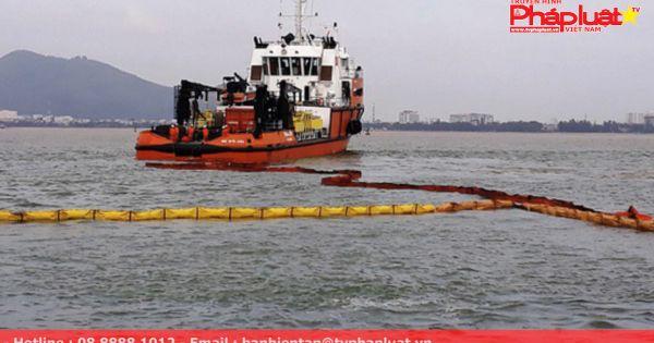 """10.000 lít dầu trên tàu hàng chìm tại vịnh Quy Nhơn """"không cánh mà bay"""""""