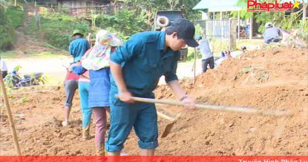 Quảng Ngãi: Tập trung giải thoát cô lập do sạt lở núi sau lũ