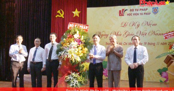 Khánh thành trụ sở mới Học viện Tư pháp tại TP.HCM và Lễ kỉ niệm ngày Nhà giáo Việt Nam