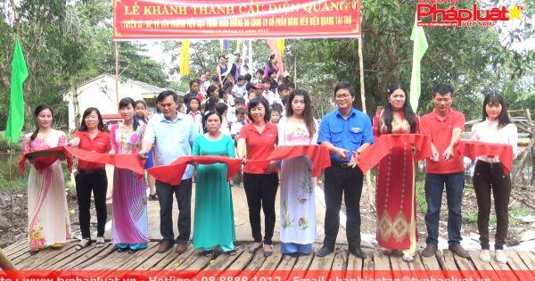 Điện Quang xây cầu giao thông cho xã nghèo tỉnh Cà Mau