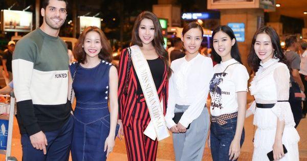 Tân Hoa hậu Siêu quốc gia Jeny Kim xuất hiện tại Việt Nam