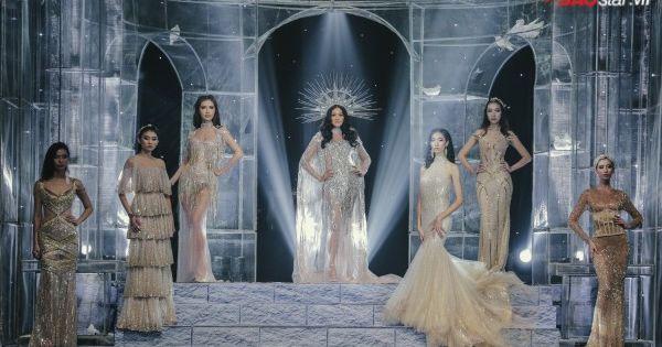 """Siêu mẫu Lukkade hóa """"thần mặt trời"""" uy nghi giữa dàn 'nữ thần' trong show Chung Thanh Phong"""