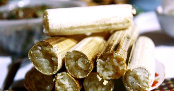 Đặc sắc món cơm lam của người Thái Tây Bắc