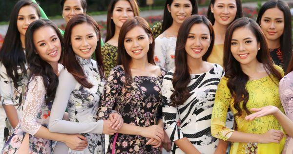 Ngắm thí sinh Hoa hậu Hoàn vũ Việt Nam khoe dáng trong tà áo dài