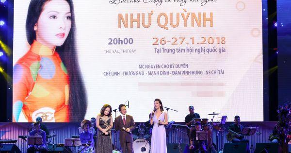 Ca sĩ Như Quỳnh làm liveshow tại TP.HCM
