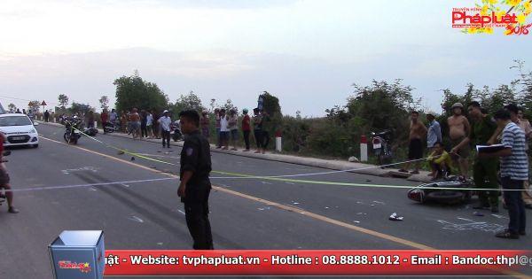 Bình Dương: Tai nạn liên hoàn giữa 2 xe máy và xe ben, 3 người thương vong
