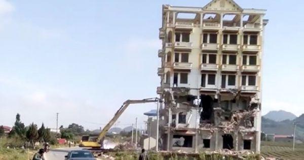 """Mộc Châu: Phá tòa nhà 7 tầng của trùm ma túy Tàng """"KeangNam"""""""