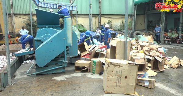TP HCM: Tiêu hủy lô hàng lậu trị giá gần 7 tỷ đồng