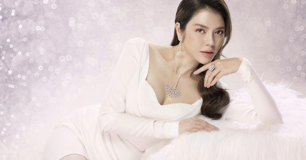 Lý Nhã Kỳ đẹp không tùy vết khi hóa làm cô dâu với trang sức kim cương