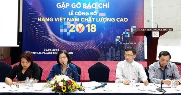 640 doanh nghiệp đạt chứng nhận Hàng Việt Nam chất lượng cao 2018
