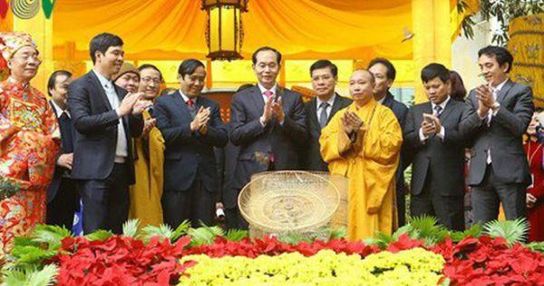 Chủ tịch nước thực hiện nghi lễ phóng sinh cầu quốc thái, dân an