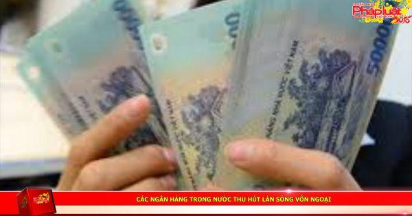 Các ngân hàng trong nước thu hút làn sóng vốn ngoại