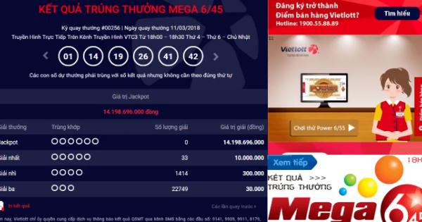 Mega 6 45 vietlott 11/3/2018– KQXS MEGA 645