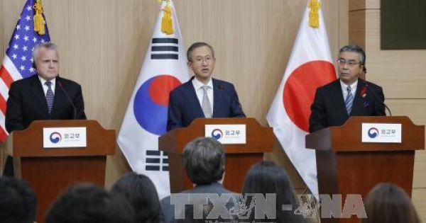 Mỹ - Nhật - Hàn phối hợp chuẩn bị cho cuộc gặp thượng đỉnh Mỹ - Triều