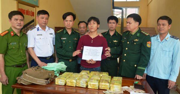 BĐBP Hà Tĩnh phá chuyên án, thu 15kg ma túy đá, trị giá 12.000 USD