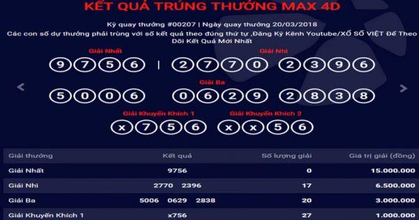 Mega 6 45 vietlott 20/3/2018– KQXS MEGA 645