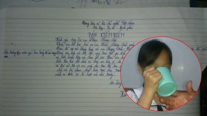 Gia đình kiến nghị điều tra, xử lý nghiêm cô giáo phạt học sinh uống nước giặt giẻ lau bảng