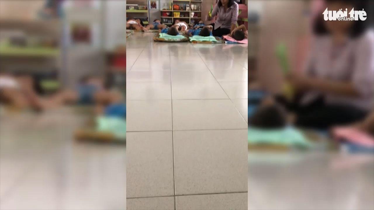 TP HCM: Đình chỉ cô giáo đánh trẻ tại trường mầm non 30/4