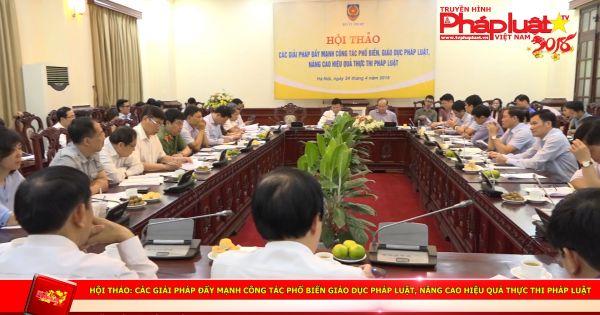 Hội thảo: Các giải pháp đẩy mạnh công tác phổ biến giáo dục pháp luật, nâng cao hiệu quả thực thi pháp luật