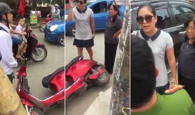 """Nữ tài xế tuyên bố """"mạng người không quan trọng"""" khi va chạm là Chánh văn phòng Đảng ủy"""