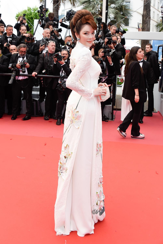 Lý Nhã Kỳ và chiếc áo dài Việt trên thảm đỏ Cannes 2018