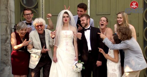 Cười chút chơi: Door Slams into Bride's Face on Wedding Day