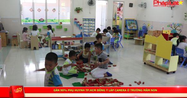 Gần 90% phụ huynh TP.HCM đồng ý lắp camera ở trường mầm non