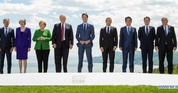 Lãnh đạo khối G7 nhóm họp tại Quebec, xoay quanh xung đột thương mại với Mỹ