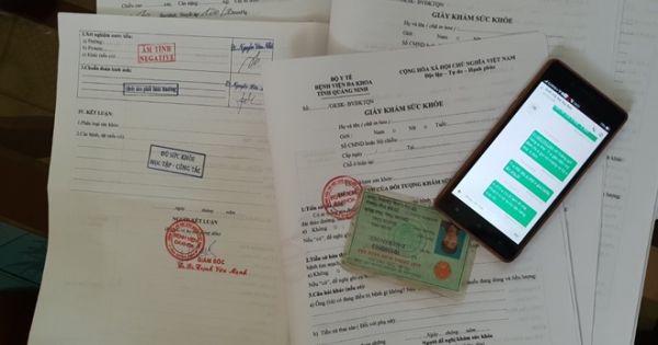 Quảng Ninh: Triệt phá đường dây buôn bán giấy khám sức khỏe giả